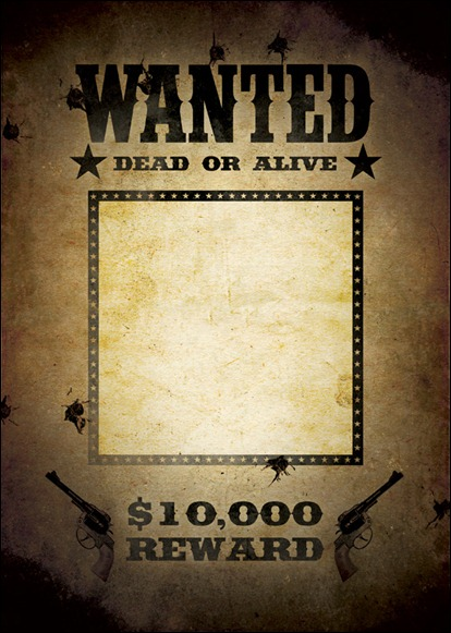 15 Wanted Poster Template Photoshop Images