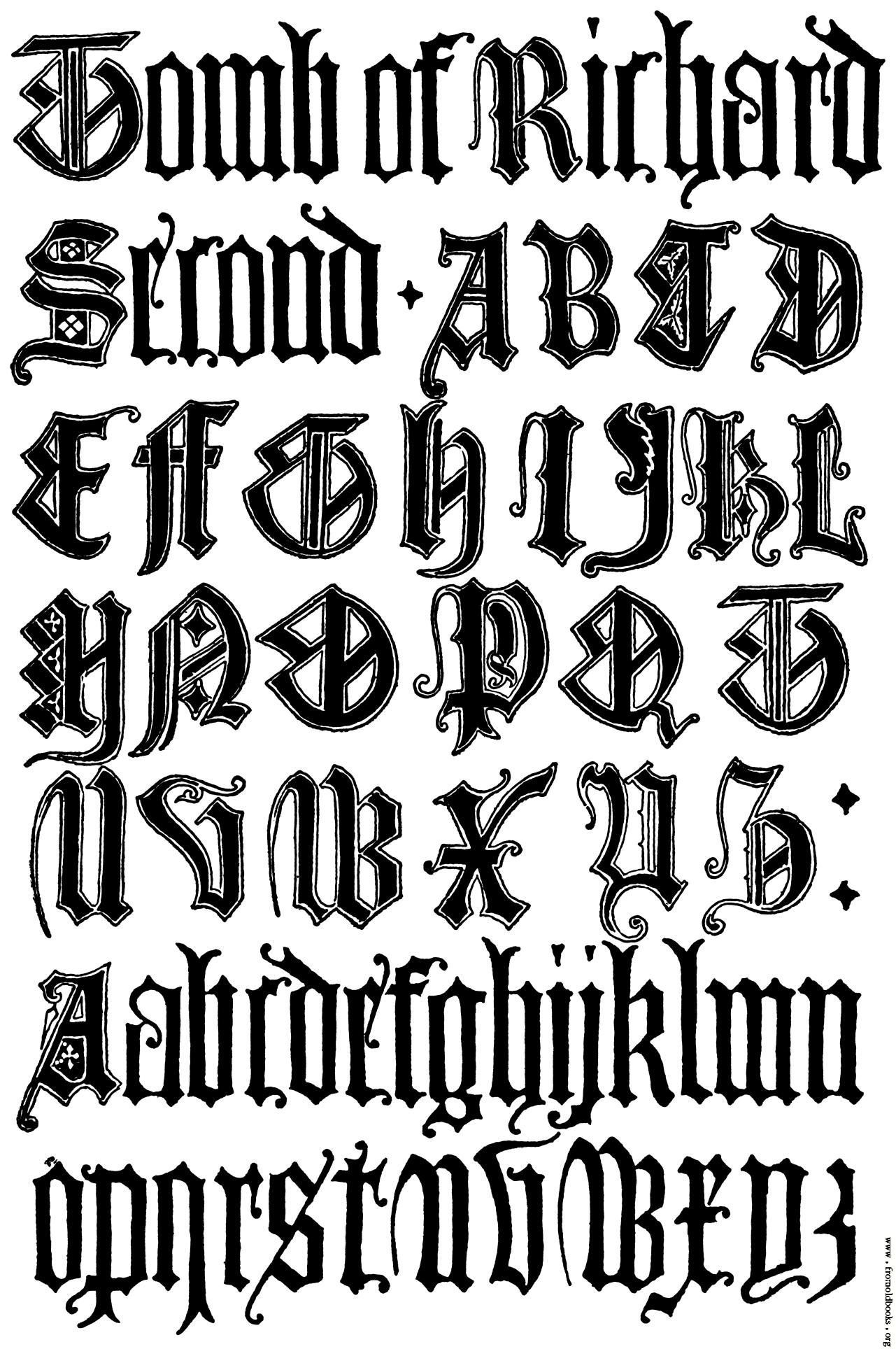 Gothic Old English Letters Alphabet