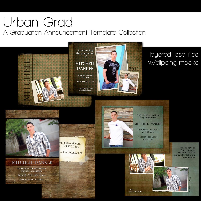 Graduation Announcement Templates Photoshop