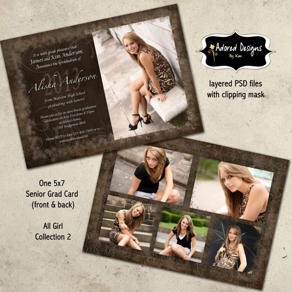 Graduation Party Templates for Photoshop