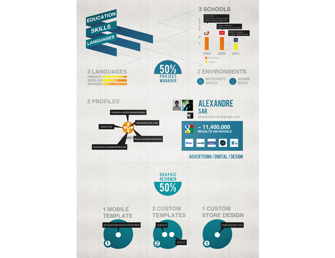 15 Graphic Designer Resume Infographic Images Graphic Design