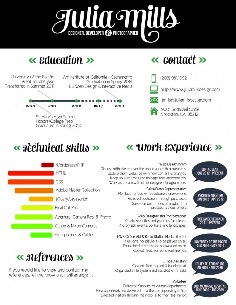 cv infographic template