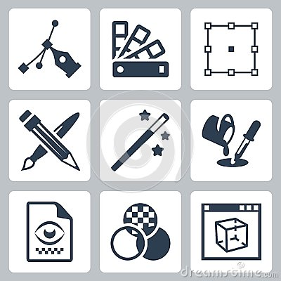 Graphic Design Vector Icons