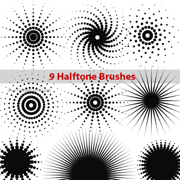 16 Halftone Brushes For Photoshop Images