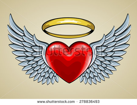 12 heart angel wings vector images heart with wings clip art heart with angel wings vector. Black Bedroom Furniture Sets. Home Design Ideas