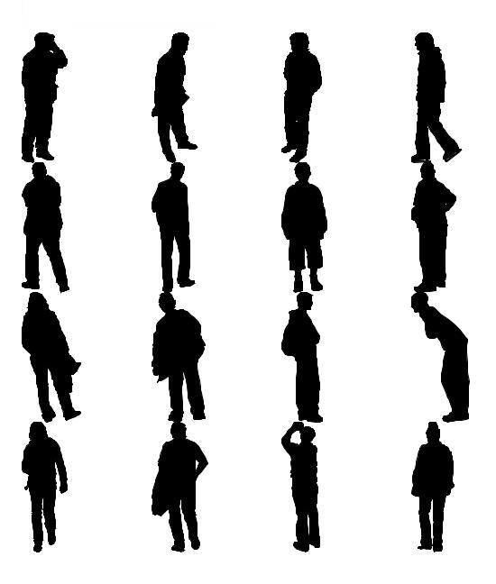 Human Figure Silhouette Walking