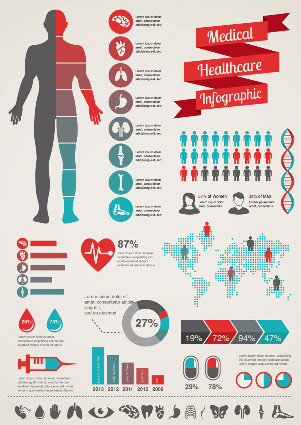 15 Icons Health Infographic Images