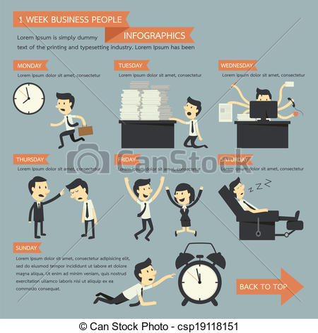 Infographic People Icons Vector