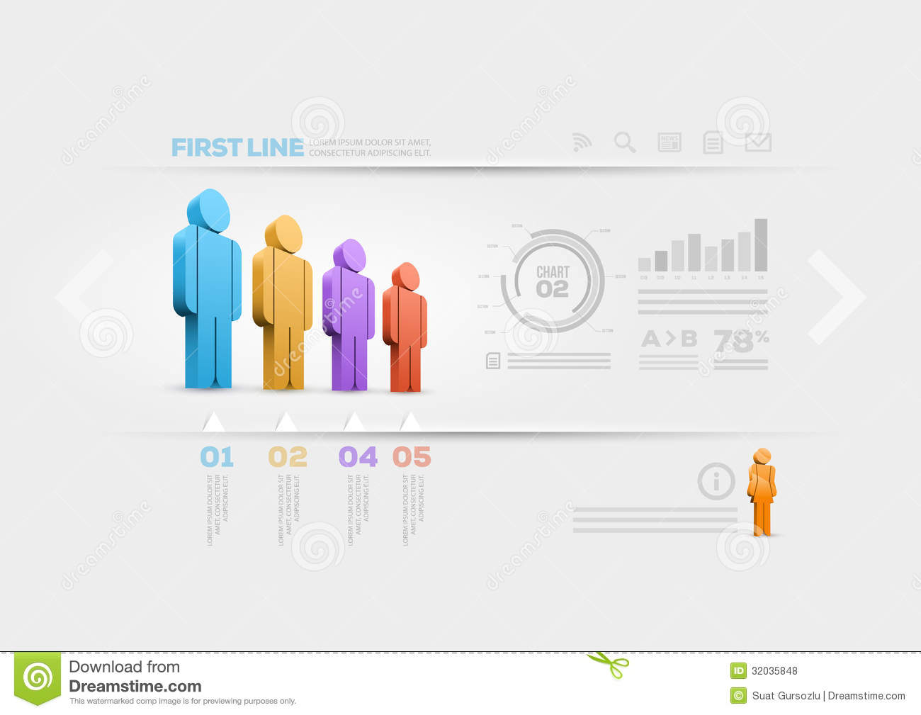 Infographic Person Outline