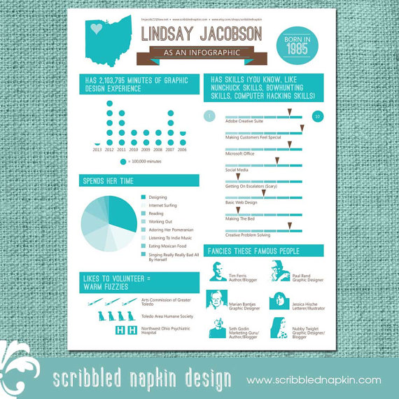 9 Graphic Design Resume Infographic Images