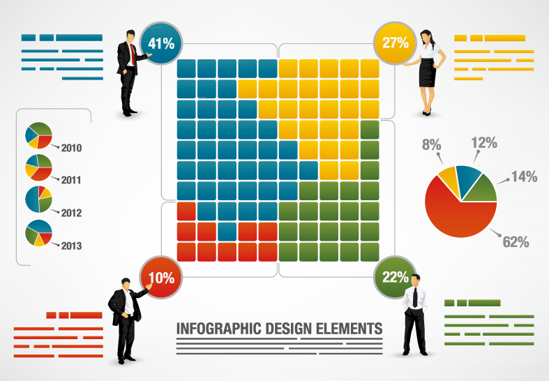 7 Infographic People Icons Business Images