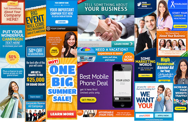Insurance Vertical Banner Ads