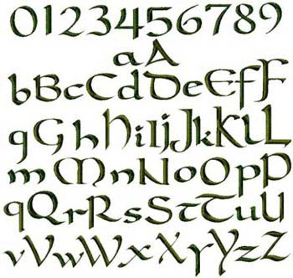 Celtic letter font limarinemania celtic letter font spiritdancerdesigns Images