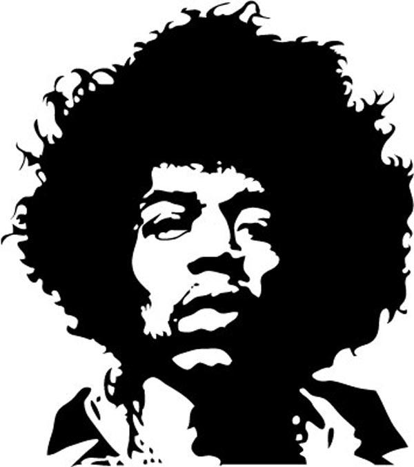6 Jimi Hendrix Vector Images