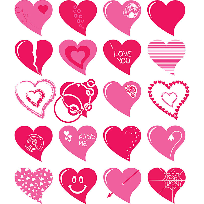 10 Love Heart Vector Images