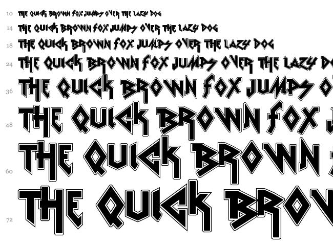 Metal Font Free Download