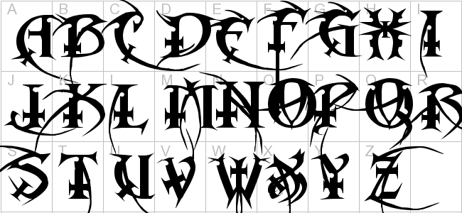 Metal Macabre Font