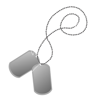 12 Military Dog Tag Vector Art Images