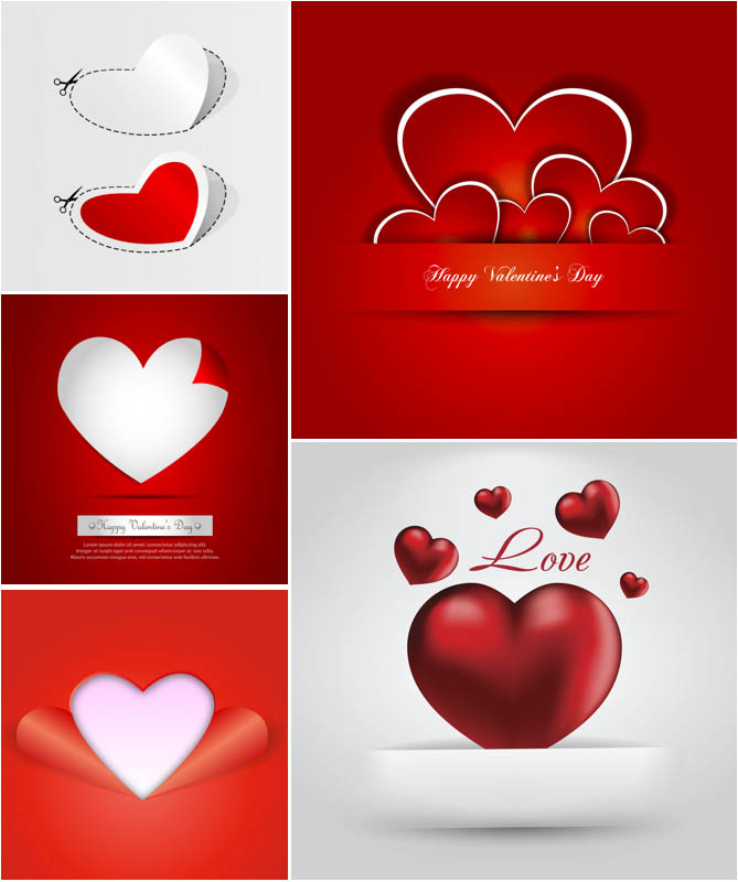 6 Modern Valentine's Day Vector Images