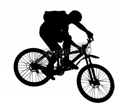 12 Mountain Biking Silhouette Vector Images