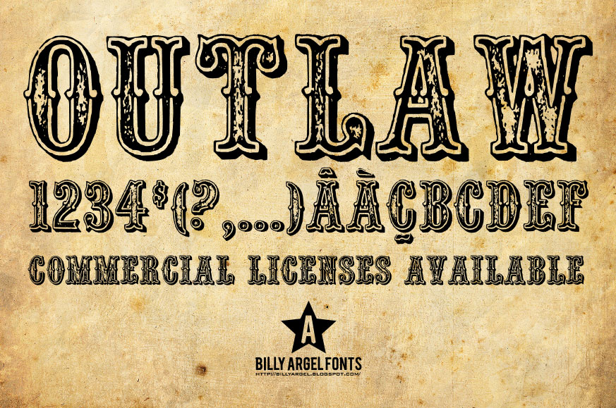 8 Outlaw Western Font Images