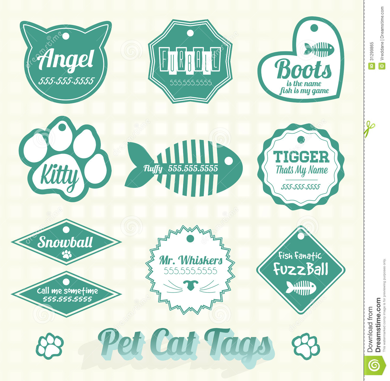 13 Dog Name Tag Vector Images