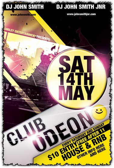14 Free Club Flyer Templates Photoshop Images