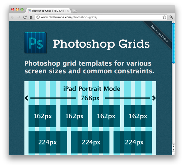 Photoshop Grid Template