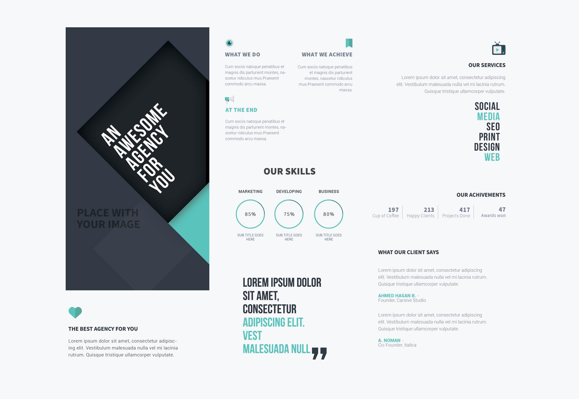 Nice Poshop Tri Fold Brochure Template Images Design Flyer Or