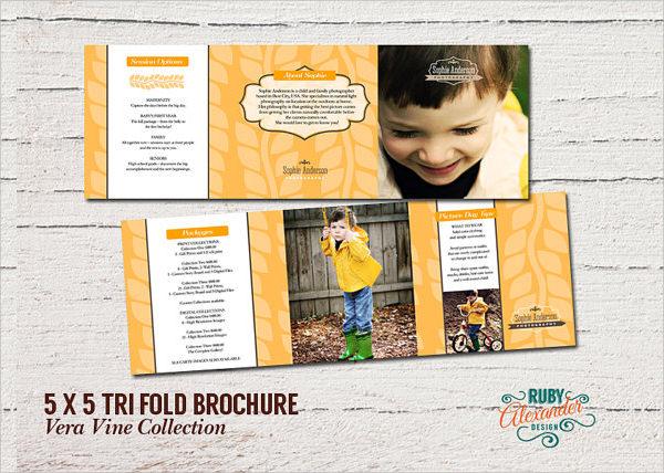 Photoshop Tri-Fold Brochure Templates Free Download