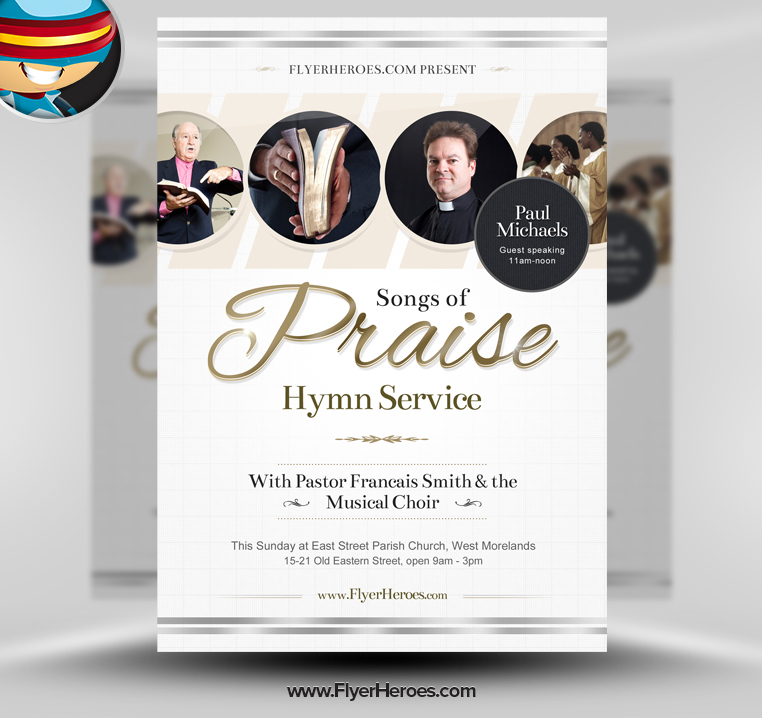 Free business flyer templates examples 15 free templates for Church brochure templates free