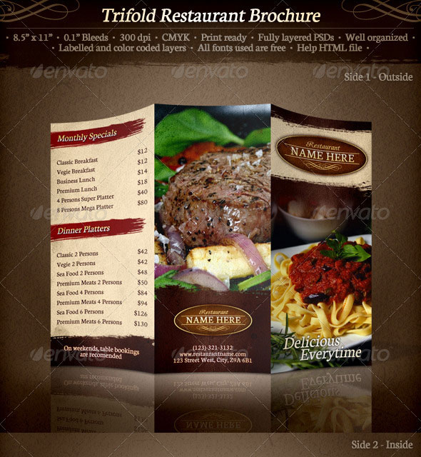 Restaurant Brochures Examples