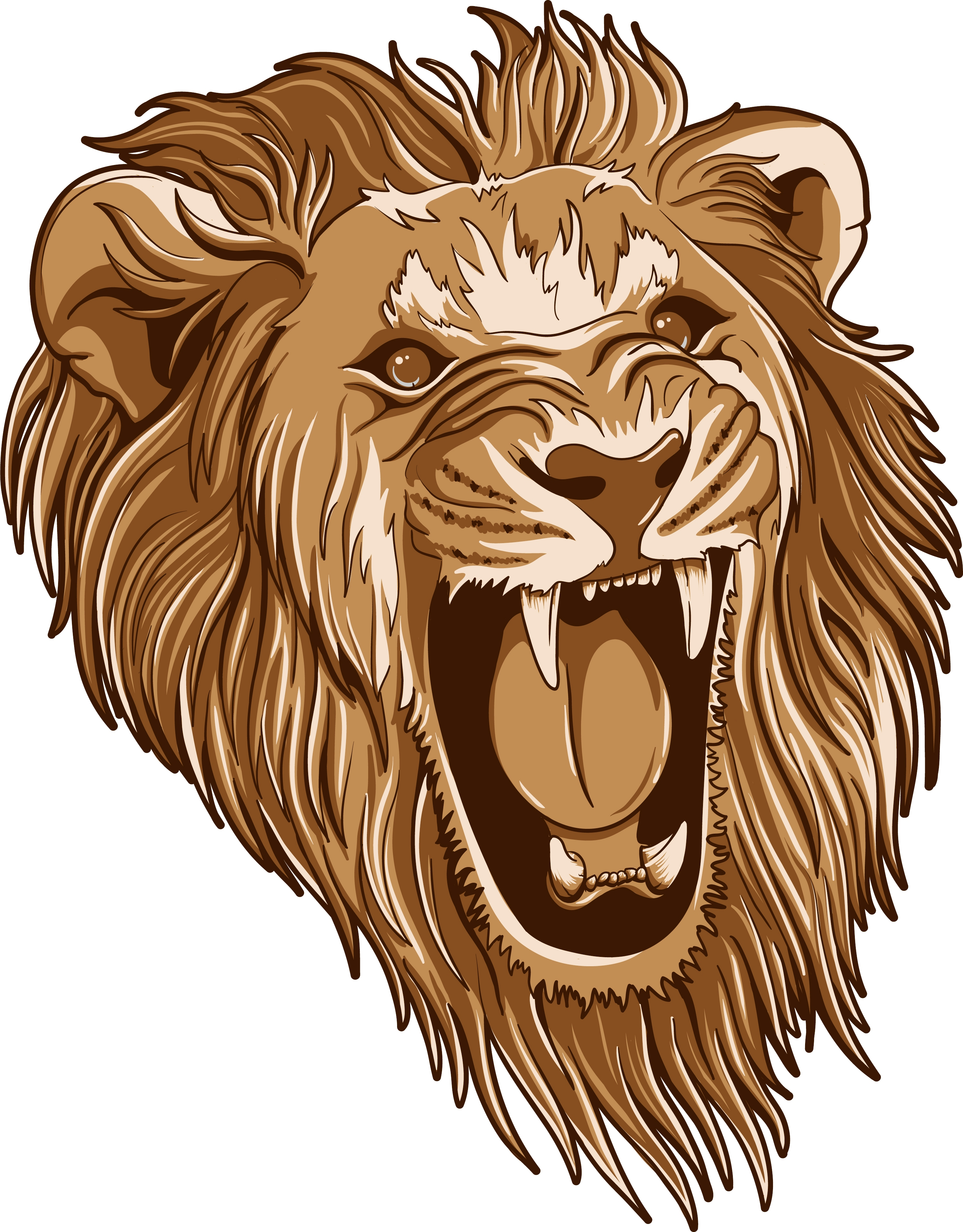 16 Roar On Lion Head Vector Images - Roaring Lion Head ...