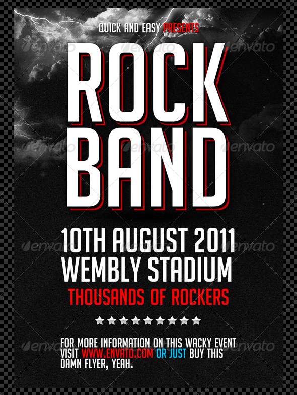 13 Photoshop Band Flyer Template Free Images - Photoshop PSD, Band ...