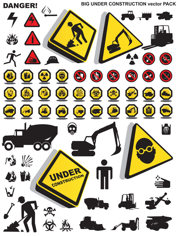 Safety Icons Vector Free