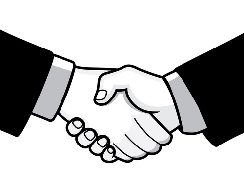 14 Shaking Hands Vector Graphic Images