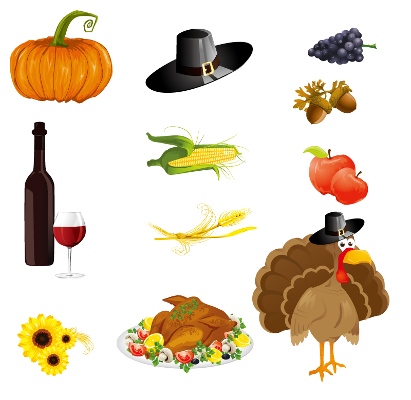 8 Thanksgiving Icons Free Images
