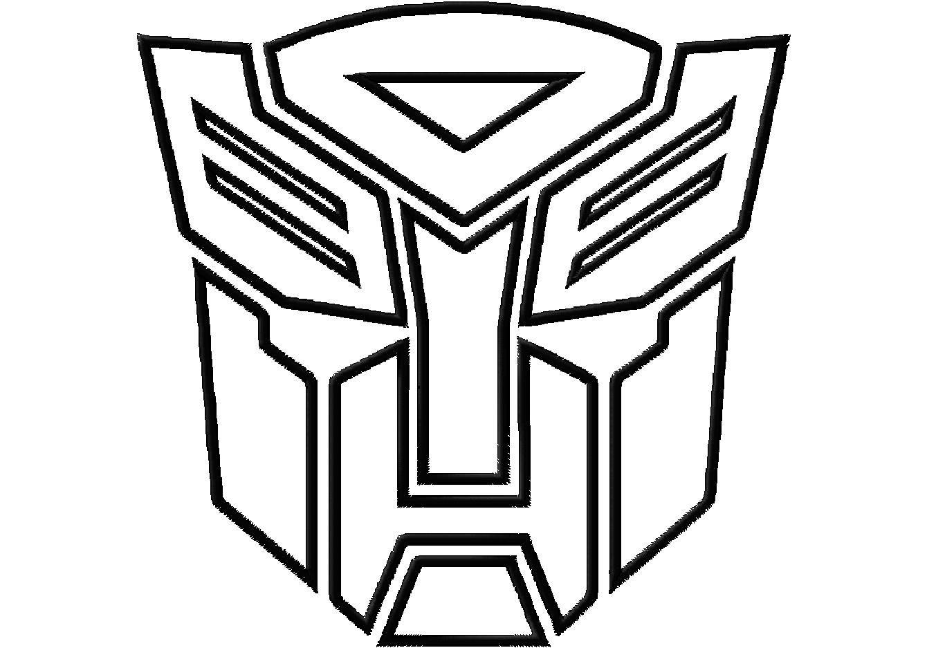 Transformer Logo Stencil