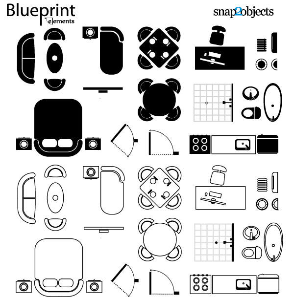 8 vector architecture blueprints images free vector drawing vector architectural blueprint symbols malvernweather Choice Image