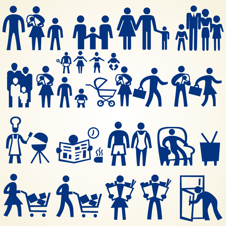 Vector Family Icons Free Download