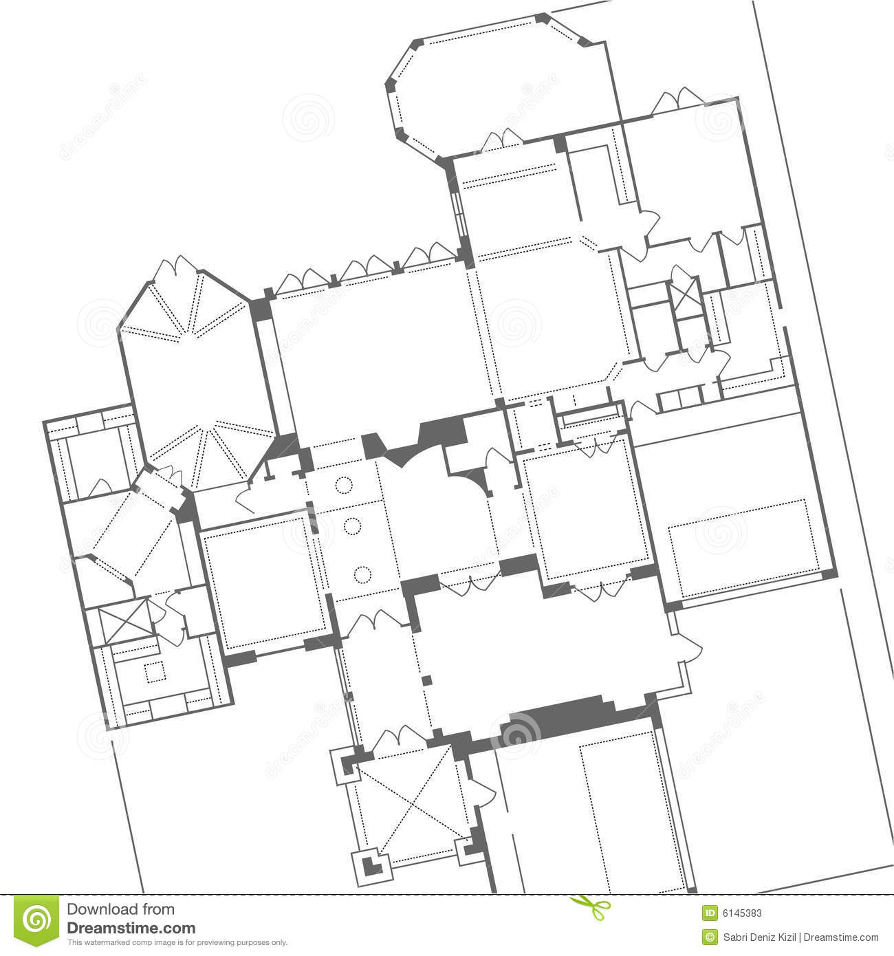 Vector House Blueprint