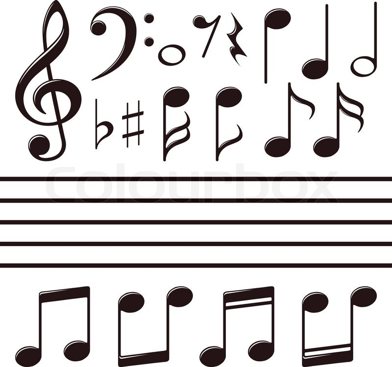 Single Music Notes Names