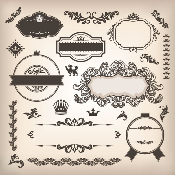 12 Free Vintage Label Frame Vector Images