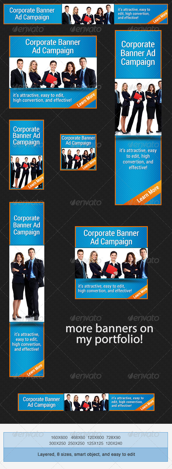 Vertical Banner Ad Template