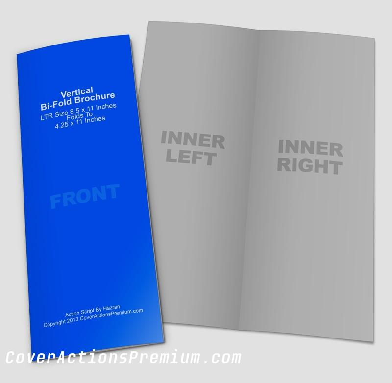 Vertical Bi Fold Brochure Template