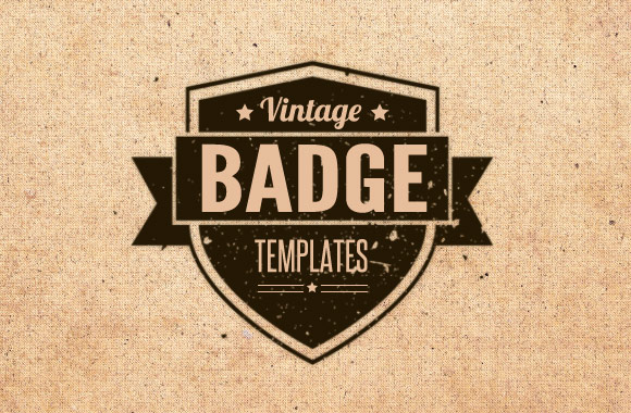 13 Vintage Vector Badge Templates Images