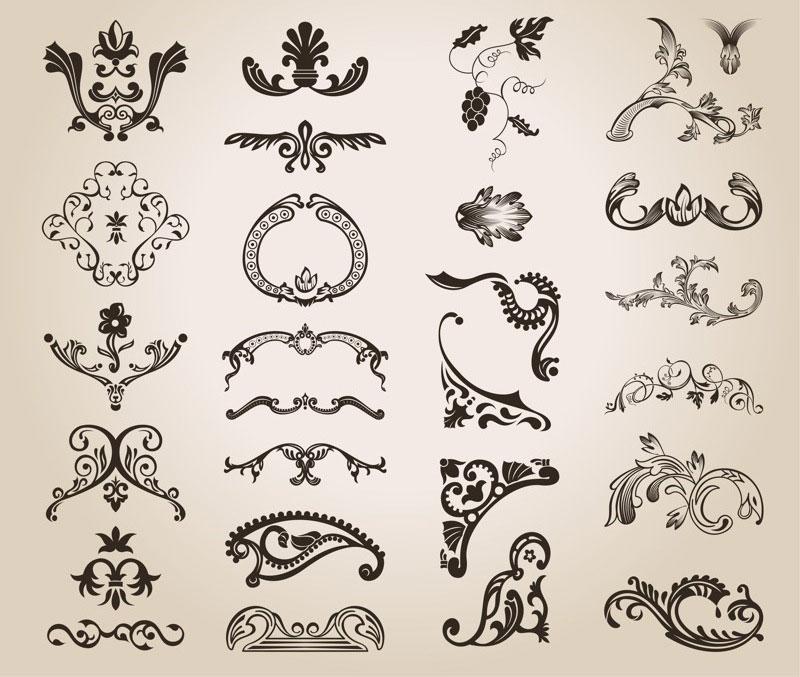 Vintage Design Ornate Elements Vector