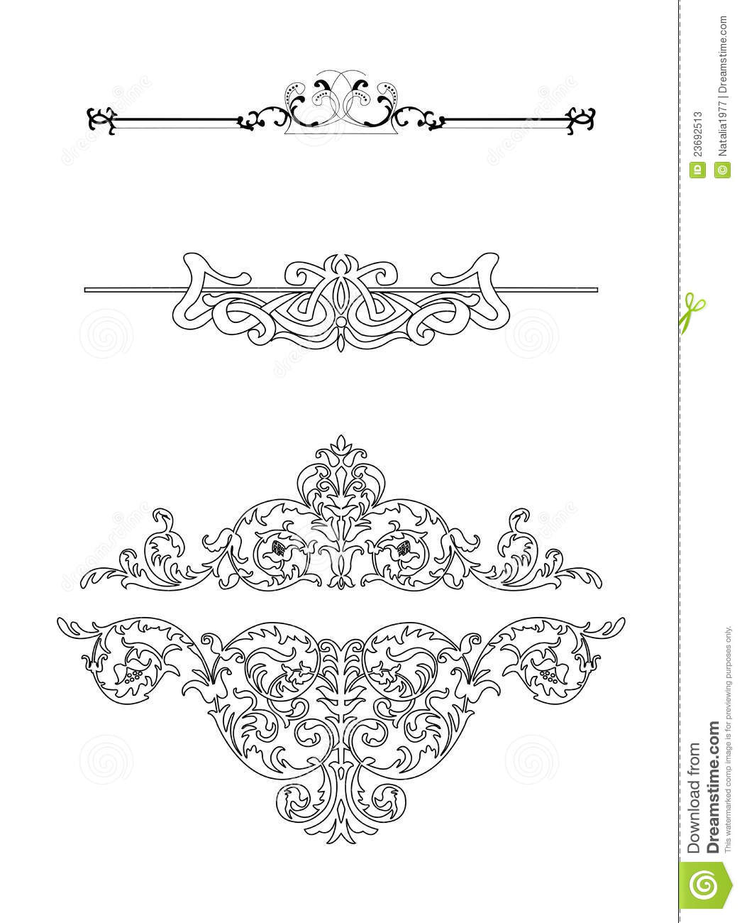 14 Vintage Line Vector Images - Vintage Vector Ornaments ...
