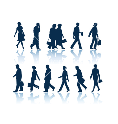 16 Vector People Walking Silhouette Profile Images ...