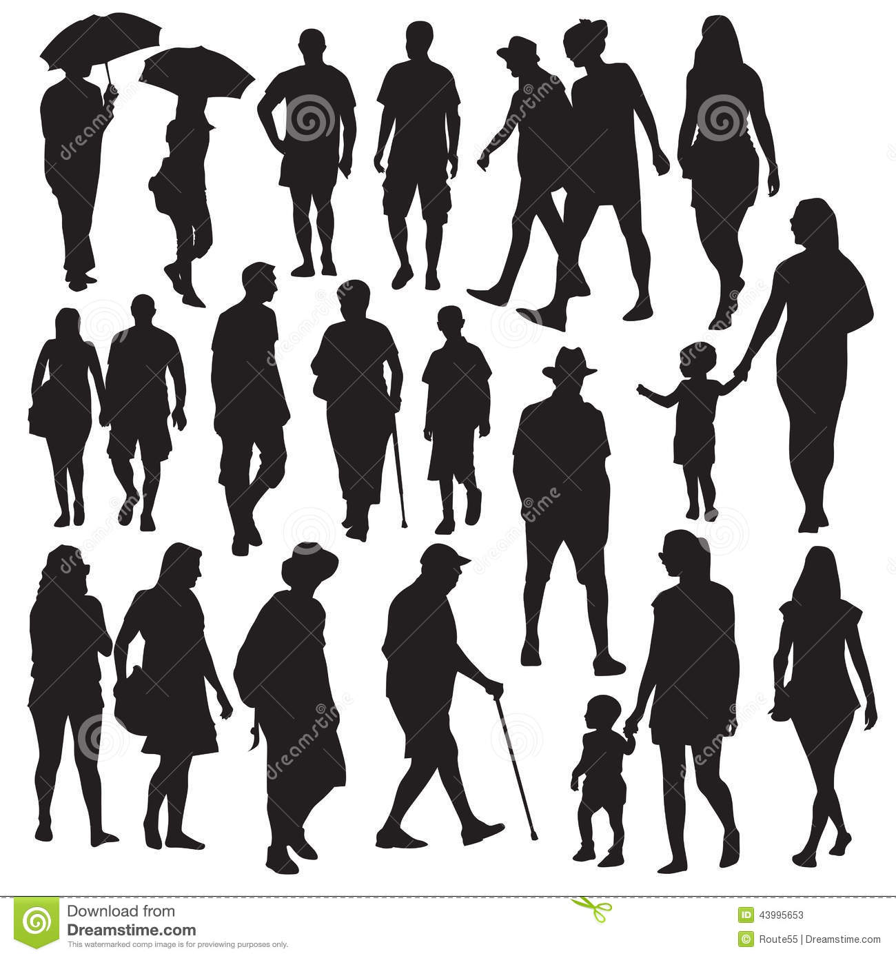 The gallery for --> Walking Silhouette Vector